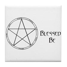 """Blessed Be"" Tile Coaster"