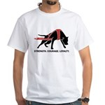 Pit Bull Weight Pull White T-Shirt
