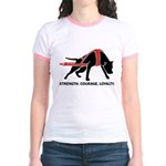 Pit Bull Weight Pull Jr. Ringer T-Shirt