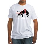 Pit Bull Weight Pull Fitted T-Shirt