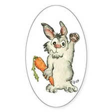 Bunny Rabbits Oval Decal