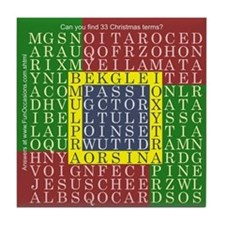 Xmas Word Search - Tile Coaster