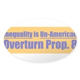 Overturn Prop 8 Oval Sticker (10 pk)