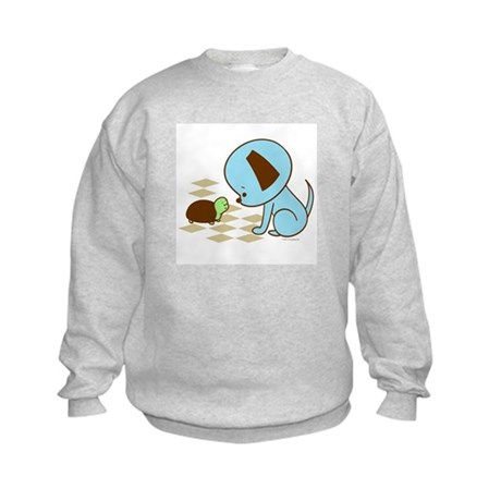 Puppy and Turtle Kids Sweatshirt
