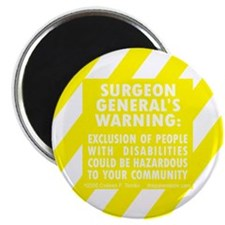 "Exclusion Warning 2.25"" Magnet (10 pack)"