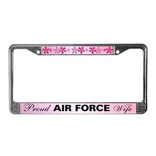 Proud Air Force Wife License Plate Frame