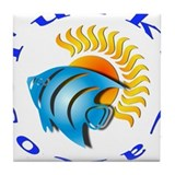 tnc sunfish Tile Coaster