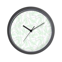Boomerang Mint Wall Clock