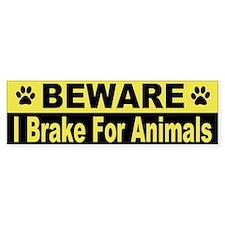 I Brake For Animals Bumper Bumper Sticker