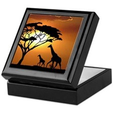 Giraffe Family Keepsake Box