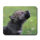 """Black Wolf Pup"" Mousepad"