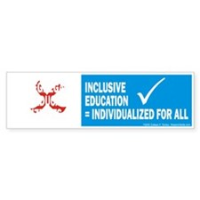 Segregated Education One Size Bumper Bumper Sticker