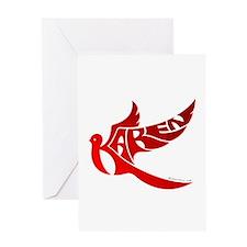 Karen (Red Bird) Greeting Card