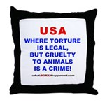 TORTURE Throw Pillow