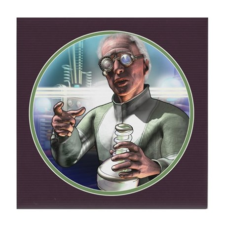 Mad Science Tile Coaster