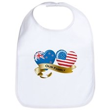 New Zealand/USA Flag_Our Family Bib