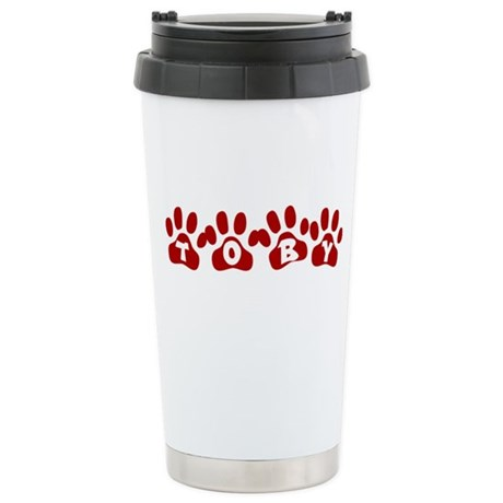 Toby Paw Prints Ceramic Travel Mug