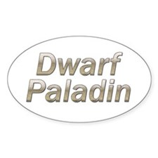 Dwarf Paladin Oval Decal