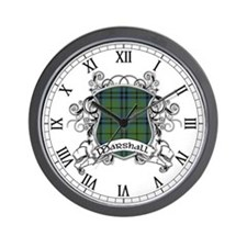 Marshall Tartan Shield Wall Clock