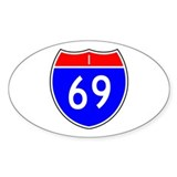 I-69 Oval Sticker (50 pk)