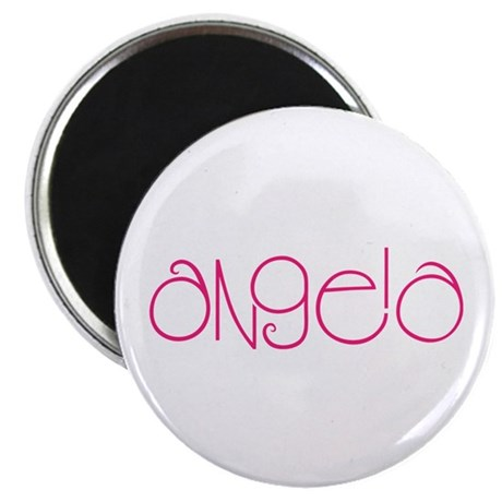 "Angela hot pink 2.25"" Magnet (10 pack)"
