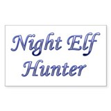 Night Elf Hunter Rectangle Decal