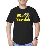 Wine Bee-Otch Men's Fitted T-Shirt (dark)