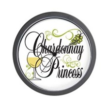 Chardonnay Princess Wall Clock