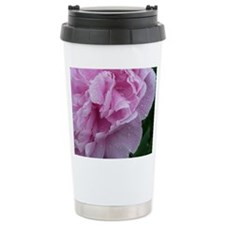Pink Flower Ceramic Travel Mug