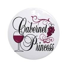 Cabernet Wine Princess Ornament (Round)