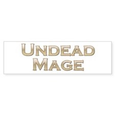 Undead Mage Bumper Bumper Sticker