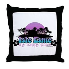 Isle Esme - My Happy Place Throw Pillow