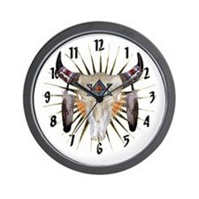 Southwest Buffalo Star Wall Clock