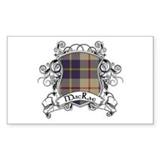 MacRae Tartan Shield Decal