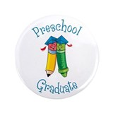 "Cute Kindergarten grad 3.5"" Button"