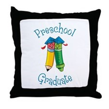 Cute Kindergarden graduation Throw Pillow