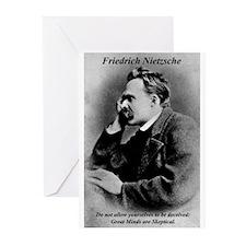 Friedrich Nietzsche: Skeptica Greeting Cards (Pack