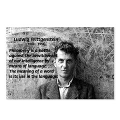 Ludwig Wittgenstein Postcards (Package of 8)