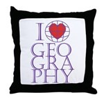 I heart Geography Throw Pillow