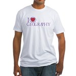 I Love Geography Fitted T-Shirt