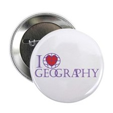 "I Love Geography 2.25"" Button"