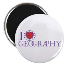 "I Love Geography 2.25"" Magnet (10 pack)"