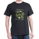 VISUALIZE WORLD PEAS Black T-Shirt