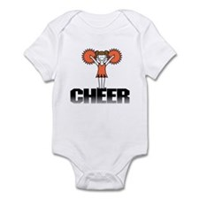 Orange Cheerleading Infant Bodysuit