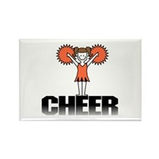 Orange Cheerleading Rectangle Magnet (10 pack)
