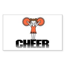 Orange Cheerleading Rectangle Decal