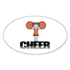 Orange Cheerleading Oval Decal
