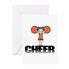 Orange Cheerleading Greeting Cards (Pk of 10)