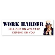 Work Harder Bumper Bumper Sticker