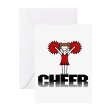 Red Cheerleading Greeting Card